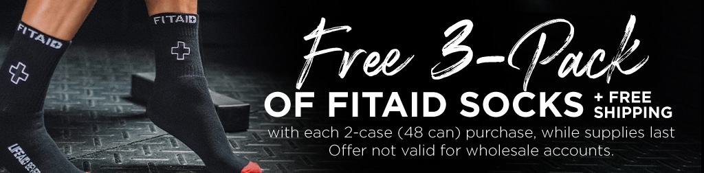 Free 3 pack of fitaid socks + free shipping